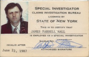Parnell rarely flashed his private investigator ID, and for good reason. Look at the photo. Would you let that man into your house?